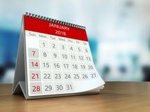 calendario 3d en la tabla ilustración del vector