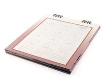 Calendario da scrivania con le date ed i mesi di giorni nel 2017 Fotografia Stock Libera da Diritti
