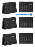 Calendario da tavolino 2013 isolato Fotografia Stock