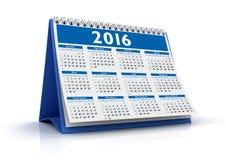 Calendario da tavolino 2016 Immagini Stock
