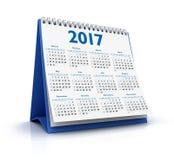 Calendario da tavolino 2017 Fotografia Stock