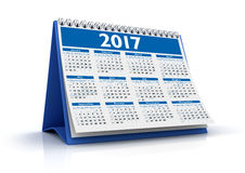 Calendario da tavolino 2017 Fotografie Stock