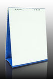Calendario da tavolino in bianco Fotografia Stock