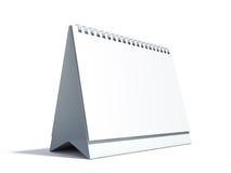 Calendario da tavolino in bianco Immagini Stock