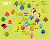 Calendario de 2009 árboles Fotos de archivo libres de regalías