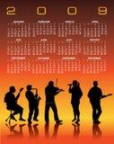 Calendario de 2009 Musical Imagen de archivo libre de regalías