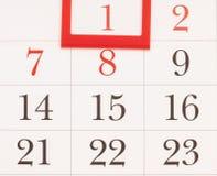 calendario de 2015 años Calendario de enero Foto de archivo
