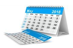calendario de 2018 años pueda Ejemplo aislado 3d Imagenes de archivo