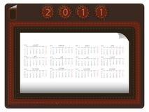 Calendario de cuero 2011 ilustración del vector