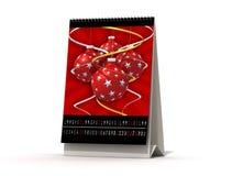 Calendario de diciembre Imagen de archivo libre de regalías