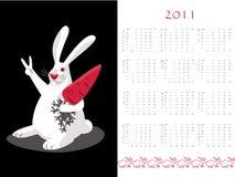 Calendario de doble cara 2011 Foto de archivo libre de regalías