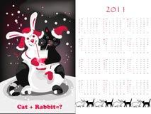 Calendario de doble cara 2011 Imagenes de archivo