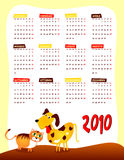 Calendario de el próximo año Foto de archivo