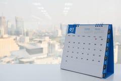Calendario de enero Fotografía de archivo