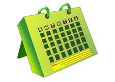 Calendario de escritorio Imagen de archivo libre de regalías