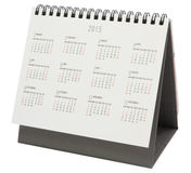 Calendario de escritorio 2015 Imágenes de archivo libres de regalías