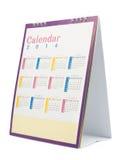 Calendario de escritorio 2014 Fotos de archivo libres de regalías