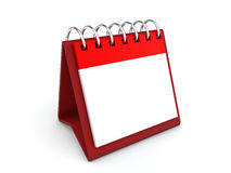calendario de escritorio del espacio en blanco 3d Imágenes de archivo libres de regalías