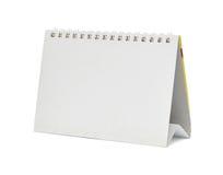 Calendario de escritorio en blanco foto de archivo libre de regalías