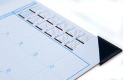 Calendario de escritorio en blanco imágenes de archivo libres de regalías