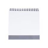 Calendario de escritorio en blanco Imagenes de archivo