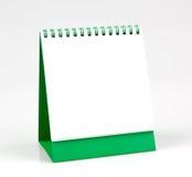 Calendario de escritorio en blanco, aislado en el fondo blanco Fotos de archivo libres de regalías