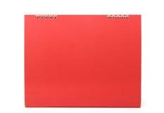 Calendario de escritorio en blanco rojo con aislado Fotos de archivo
