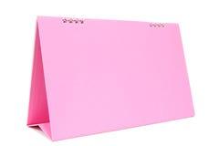 Calendario de escritorio en blanco rosado con aislado Fotos de archivo libres de regalías