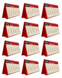 Calendario de escritorio para el conjunto 2011 ilustración del vector