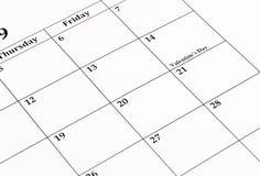 Calendario de febrero Fotos de archivo libres de regalías