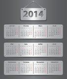Calendario de 2014 franceses Fotos de archivo