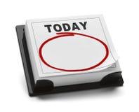 Calendario de hoy Foto de archivo libre de regalías