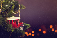 Calendario de la decoración de la Navidad de la tarjeta de felicitación Fotos de archivo