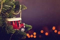 Calendario de la decoración de la Navidad de la tarjeta de felicitación Fotografía de archivo libre de regalías
