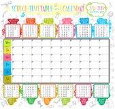 Calendario de la escuela Fotos de archivo
