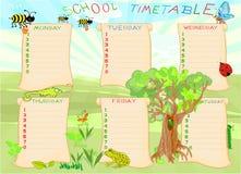 Calendario de la escuela Fotos de archivo libres de regalías