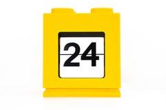 Calendario de la fecha Foto de archivo libre de regalías