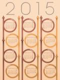 calendario 2015 de la flecha de la cinta Foto de archivo