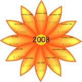 Calendario de la flor Imagen de archivo libre de regalías