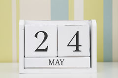 Calendario de la forma del cubo para el 24 de mayo Foto de archivo
