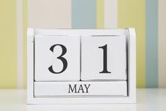Calendario de la forma del cubo para el 31 de mayo Imágenes de archivo libres de regalías