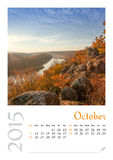 Calendario de la foto con el paisaje minimalista 2015 Fotos de archivo libres de regalías