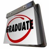 Calendario de la graduación de Graduate School Education del estudiante Imagenes de archivo