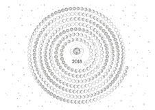 Calendario 2018 de la luna Imagen de archivo
