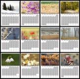 calendario 2017 de la naturaleza Fotografía de archivo