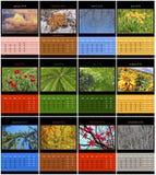 Calendario de la naturaleza para 2015 Imágenes de archivo libres de regalías