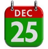 Calendario de la Navidad Imagen de archivo libre de regalías