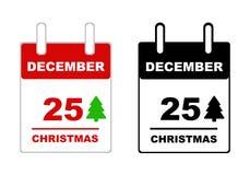 Calendario de la Navidad Foto de archivo