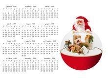 Calendario de la Navidad Fotos de archivo