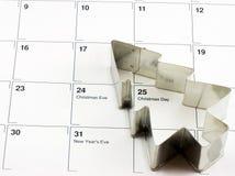 Calendario de la Navidad Fotografía de archivo